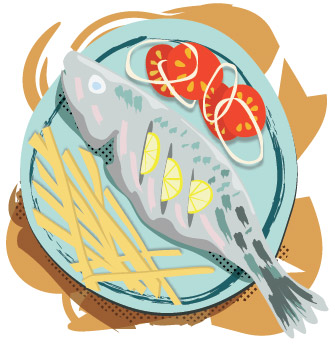 Fish Recipe Illustration Sam Osborne