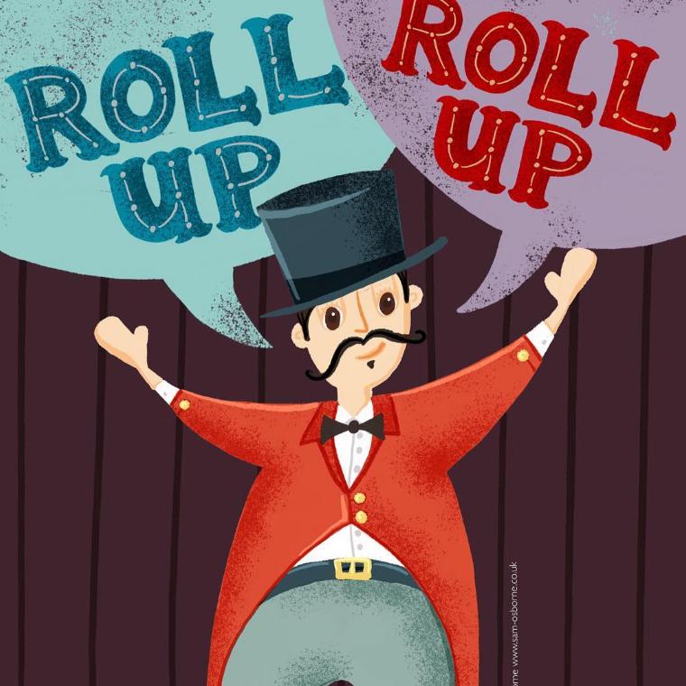 Circus Ringmaster Lettering Illustration Sam Osborne