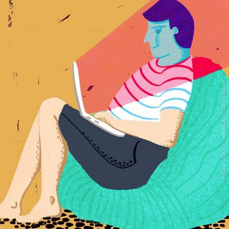 Laptop Editorial Illustration Sam Osborne