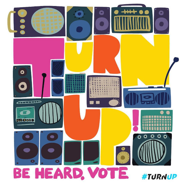 Turn Up Sound System Voting Poster