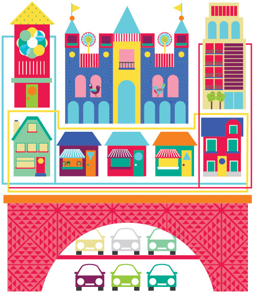 Town Surface Pattern Illustration