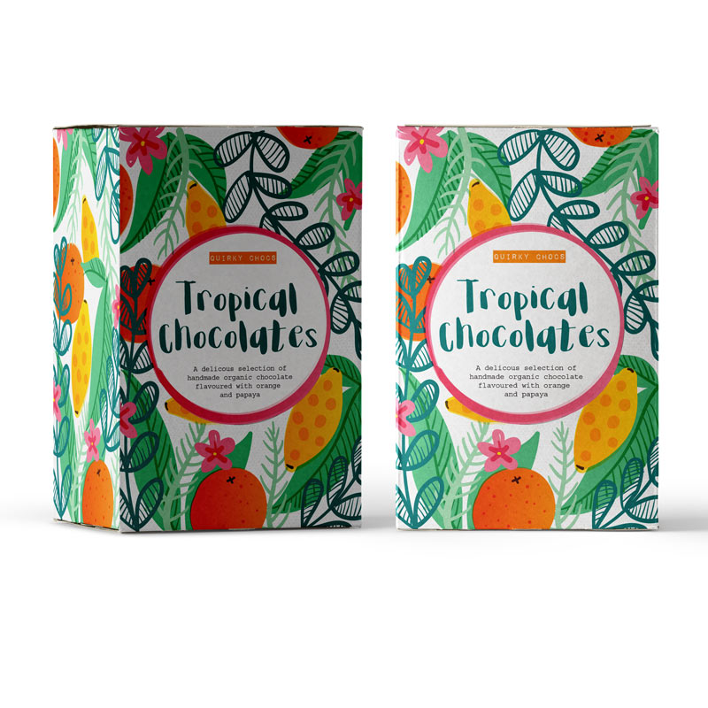 Illustrations for chocolate packaging