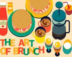 The Art Of Brunch Food Illustration