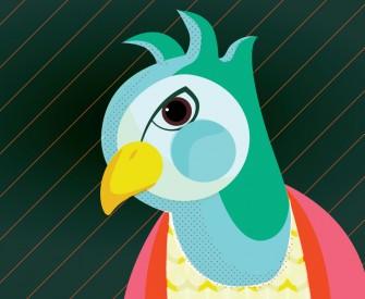 Sam Osborne Parrot Digital Illustration