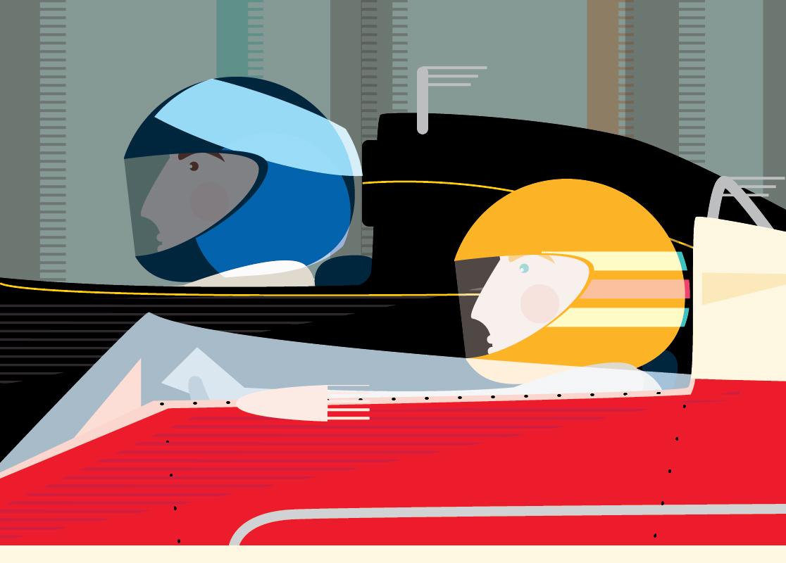 Racing drivers sam osborne design amp illustration