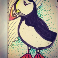 Sam Osborne Sketchbooks - Puffin Drawing