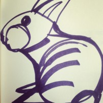 Sam Osborne Sketchbooks - Rabbit Illustration