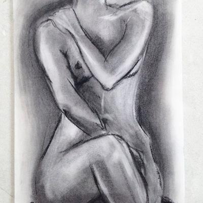 Sam Osborne Life Drawing Charcoal