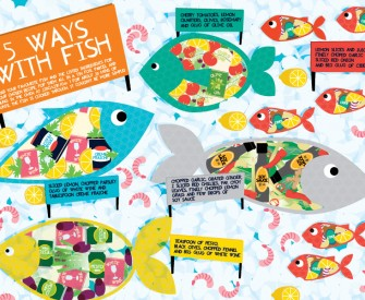 Five Ways With Fish Recipe Illustration