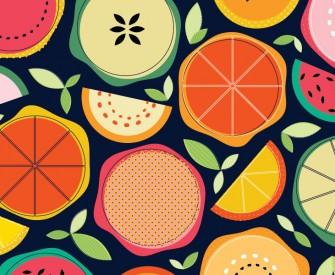 Fruit Segments Pattern Print Sam Osborne
