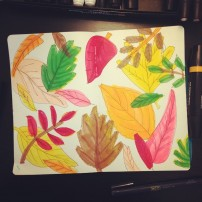 Sam Osborne Autumn Leaves Sketchbook Illustration