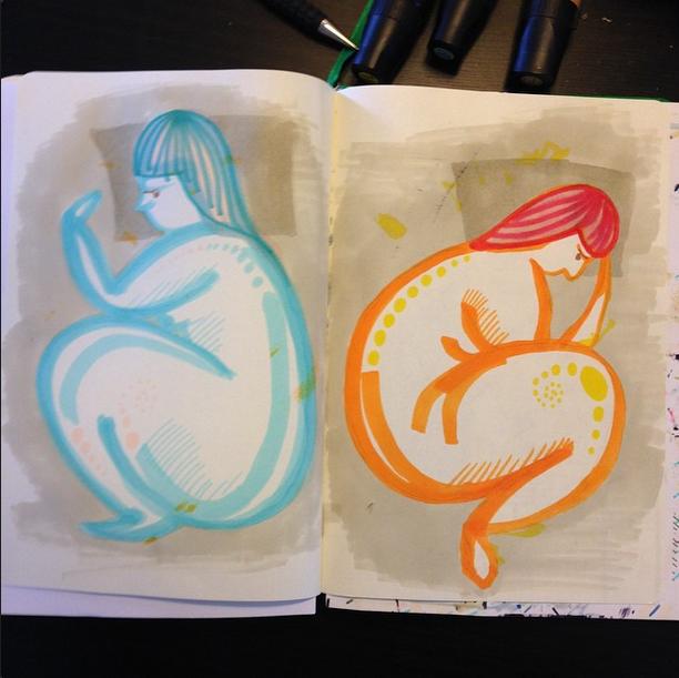 Sam Osborne Dreaming Sketchbook Illustration