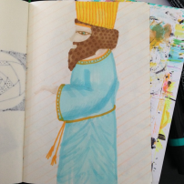 Sam Osborne Persian King Sketchbook Illustration