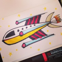 Sam Osborne Rocketship Sketchbook Illustration