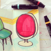 Sam Osborne Sketchbook Egg Chair Illustration