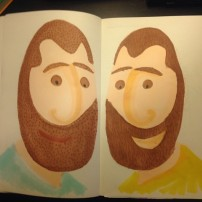 Sam Osborne Sketchbook Illustration Twins