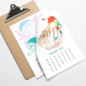 2018-Desk-Calendar-Mushrooms-Illustrations