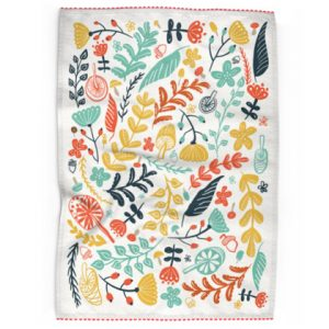 Forest Flora Print Tea Towel