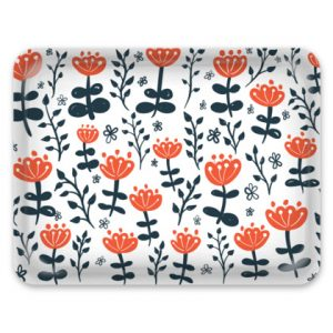 Red Blooms Large Tray