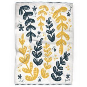 Yellow Leaves Tea Towel