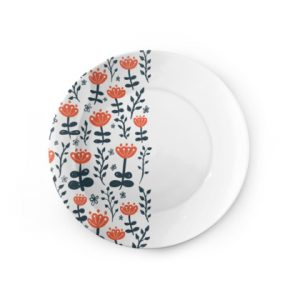 Red Blooms Dinner Plate