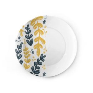 Yellow Leaves Dinner Plate