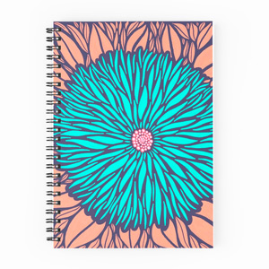 Blue-Floral-Spiral-Bound-Notebook