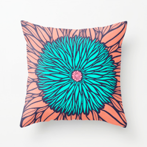 Blue-Floral-Throw-Pillow-Cushion-Sam-Osborne