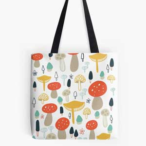 Forest-Mushrooms-Tote-Bag