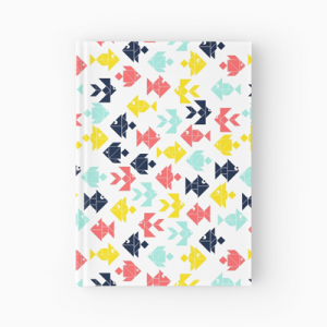 Geometric-print-hardcover-journal
