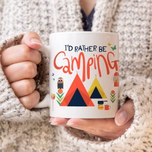 Id Rather Be Camping Mug, Camp Mug, Campfire Mug