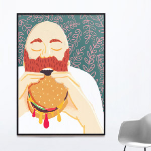 Sam-Osborne-Burger-Eating-Fine-Art-Print