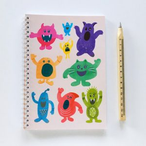 Monsters Spiral Notebook