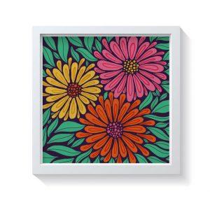 Sam Osborne Bold Multi Floral Wall Art Print