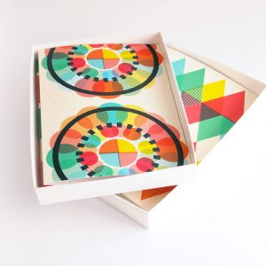 Geometric Blank Notecards