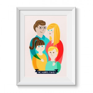 Custom Family Bespoke Illustration Gift