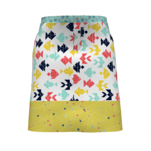 Cut & Sew Skirt Fishes Floral Fabric