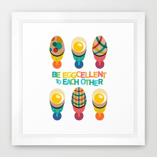 Easter Illustration Framed Print