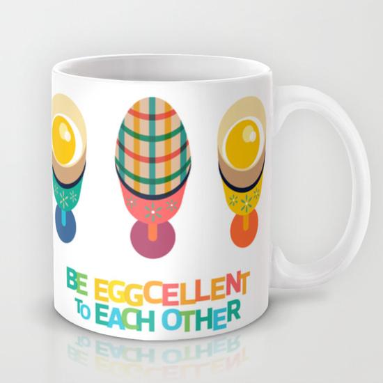 Easter Egg Illustrated Mug Cup