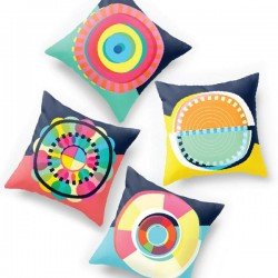 Sam Osborne Geometric Circle Cushion Collection