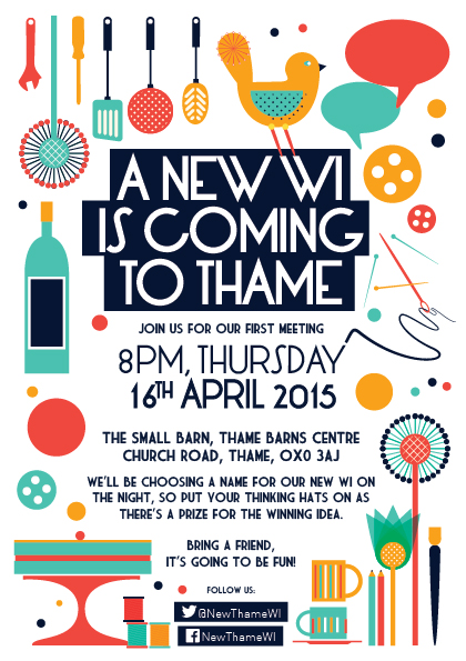 New Thame WI First Meeting Flyer