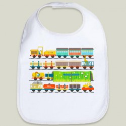Long Train Children's Bib Sam Osborne