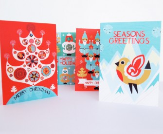 Festve Yule Christmas Cards