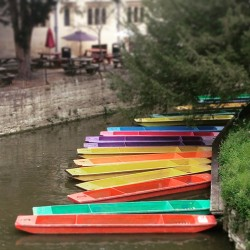 Colourful Oxford Punts
