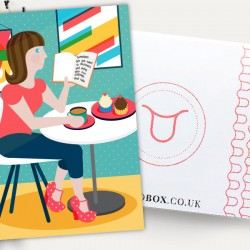 Period Box Cake and Coffee Illustration Art Print