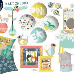Sunlit Orchard Modern Home Ware Collection Sam Osborne Art Licencing