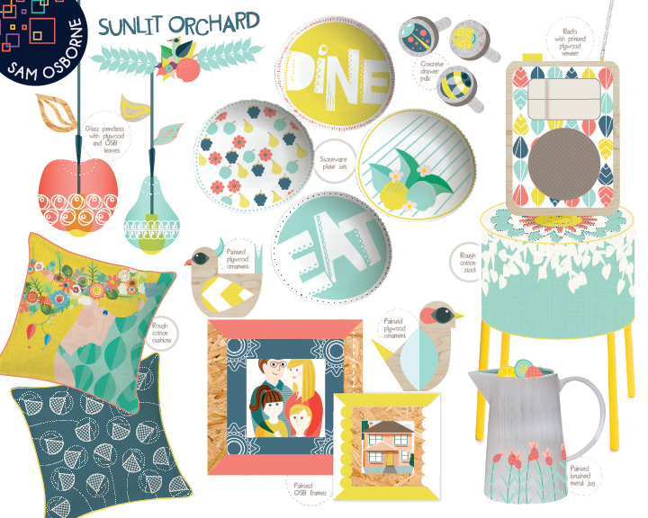 Sam Osborne Sunlit Orchard Modern Home Decor Collection