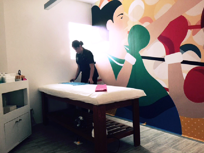 Wax Revolution Boxing Women Cabin Mural Sam Osborne