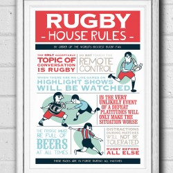 Rugby World Cup House Rules Poster