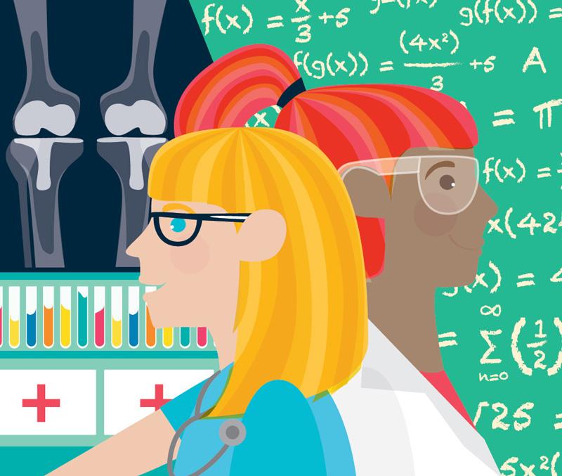 Women In Science Wall Mural Illustration Sam Osborne